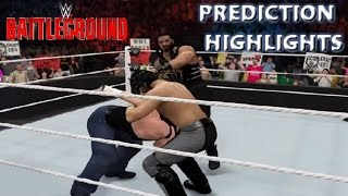 WWE 2K16 Dean Ambrose vs Roman Reigns vs Seth Rollins | Battleground 2016 - Prediction Highlights
