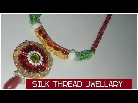 how to make jewellery with ''WASTE PEN CAPS''// silk thread