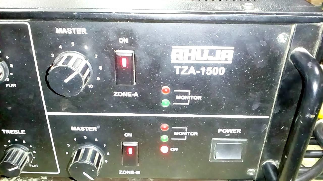 Ahuja Two Zone Pa Amplifier Tza 1500 Youtube