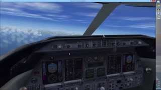 FSX: Flying a Learjet 45 - Flying from England to France