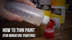 How to Paint Warhammer for Beginners - Thinning Paint