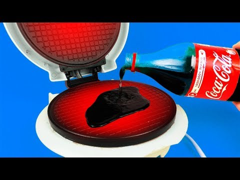 Thumbnail: What if to Drop COCA-COLA into Waffle Maker