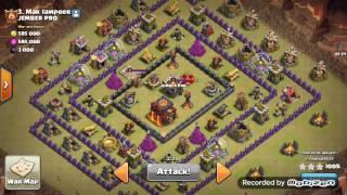 Attack war TH10 bintang 3    TH10 prematur    valkri, bowler, healer ( 3 stars attack )