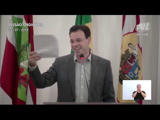 30/07/2019 - Pronunciamento Sessão Ordinária