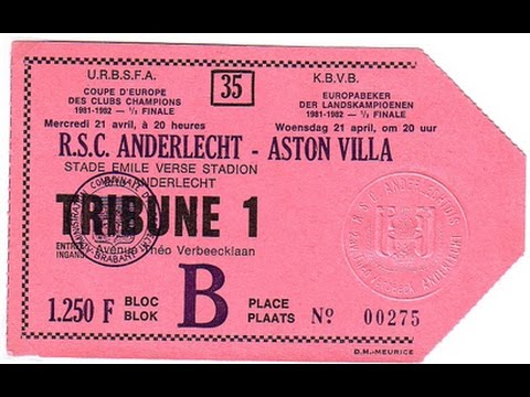 RSC Anderlecht 0 Aston Villa 0 - European Cup Semi Final 2nd Leg - 21st April 1982
