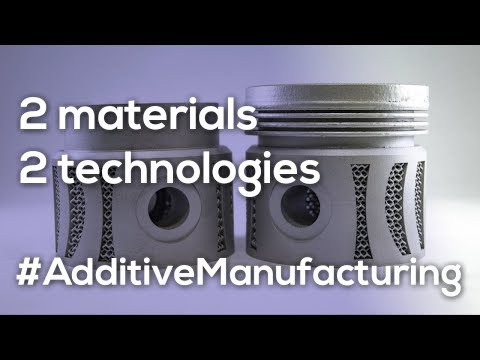 Hybrid Piston in Additive Manufacturing - Multi-metal, multi-technology prowess