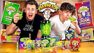 BROTHERS BLEND EVERY FLAVOUR OF WARHEADS TOGETHER AND DRINK IT *Bad Idea*