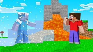 Minecraft But STEVE FREEZES EVERYTHING He TOUCHES! (insane)