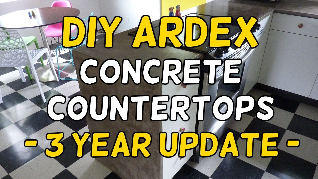 Ardex Feather Finish Countertops Our Diy Ardex Feather Finish Concrete Countertops 3 Year Update