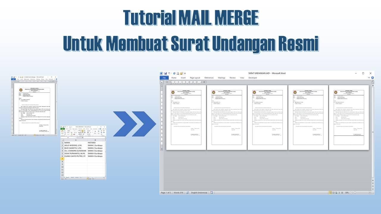 Cara Membuat Mail Merge untuk Surat Undangan