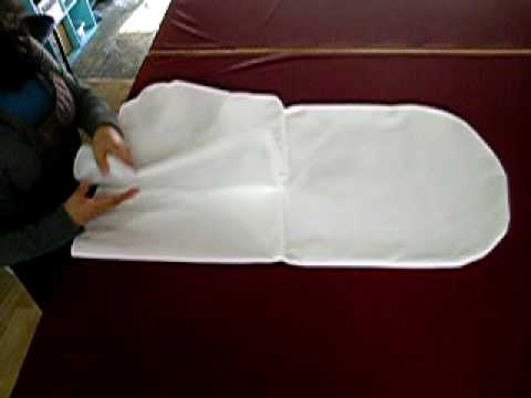 folding chair covers for wedding gray living room chairs how to fold a cover youtube