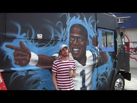 Cam Newton Food Truck News Package