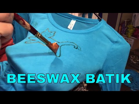 Paint A Cat Design On A Tshirt - Beeswax Batik Design Using A Tjanting Tool