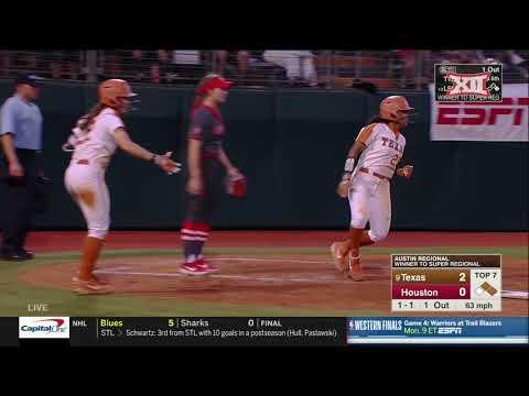 Texas Vs. Houston NCAA Softball Highlights - Game 2
