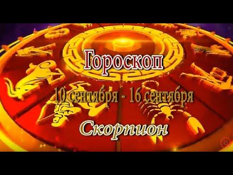 Скорпион. Гороскоп на неделю с 10 сентября по 16 сентября