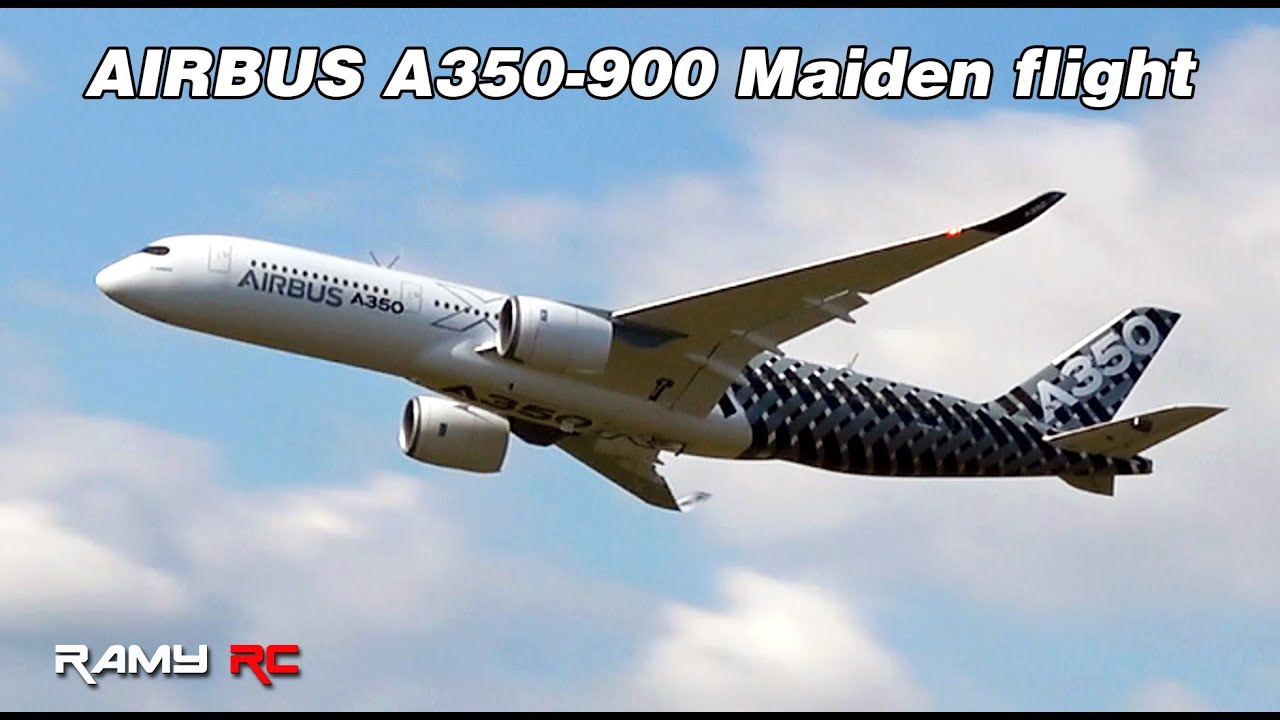 Maiden flight of the new AIRBUS A350-900 XWB, RC airplane