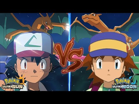 Pokémon Ultra Sun and Ultra Moon: Pokemon Ash Vs Ritchie (Kanto Rival Battle)