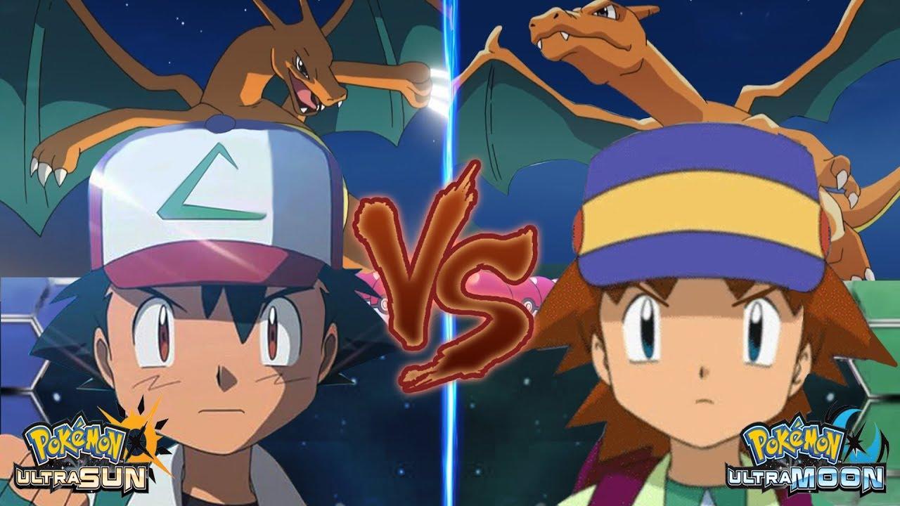 Pokemon Battle USUM: Pokemon Ash Vs Ritchie (Kanto Rival