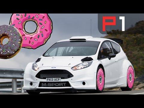 Elfyn Evans + Ford Fiesta R5 = Donuts at Donington