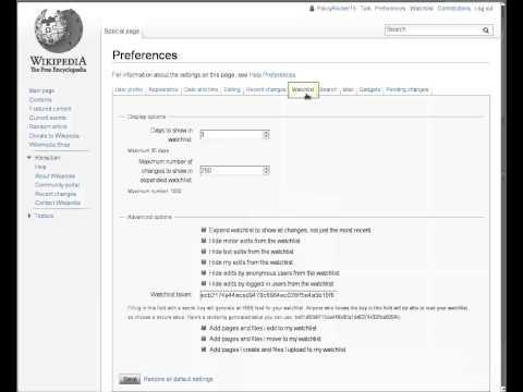 Wikipedia editing basics: Watchlists