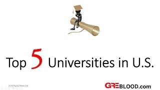 Top 5 Universities in US
