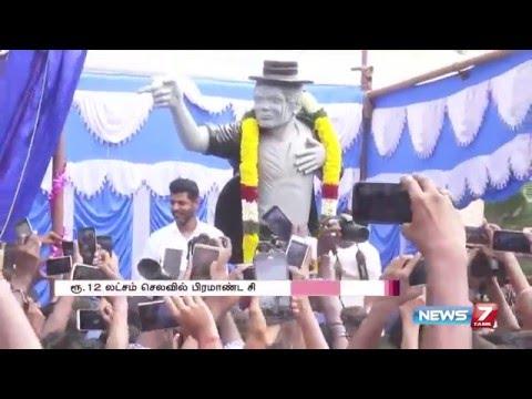 Prabhu Deva unveils Michael Jackson 's statue at Vels University  7 Tamil