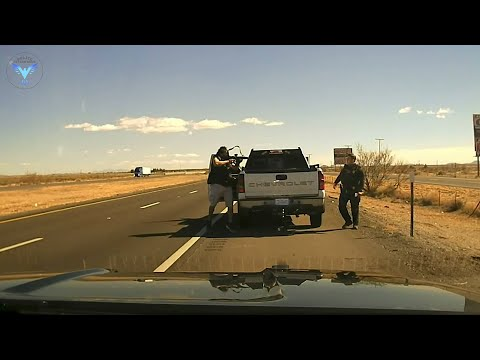 Police Dashcam Video NMSP releases video on what led up to fatal shooting of Officer Darian Jarrott
