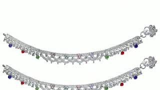 Very stylish and beautiful silver Anklet design for women..👰🤰🤰