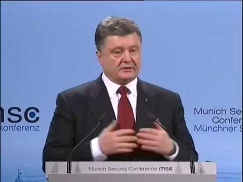 Speech by President of Ukraine at the Munich Security conference