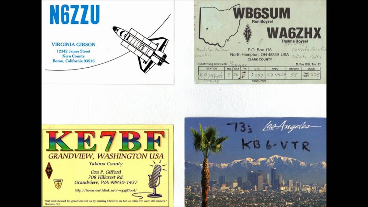 Ham Radio QSL Collection - YouTube