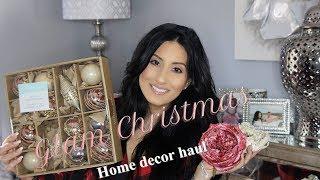 GLAM CHRISTMAS || HOME DECOR HAUL || AT HOME || HOMEGOODS || BIG LOTS || MICHAELS