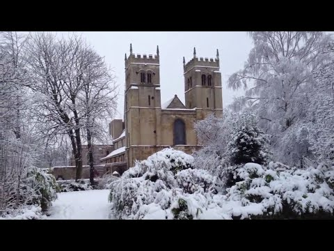 Worksop Priory In The Snow 1