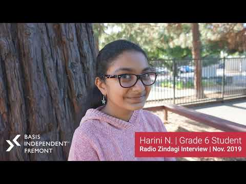 Radio Zindagi Interview with Grade 6 BASIS Independent Fremont Student