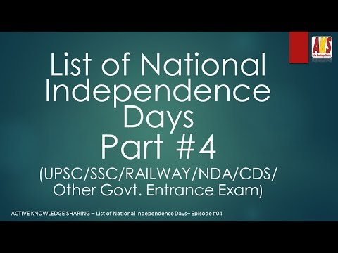 List of national independence days #4