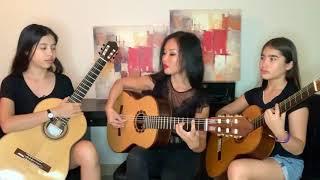Cancion del Mariachi, Desperado Song, Trio Guitar By Thu Le and Daughters, Home Ambience