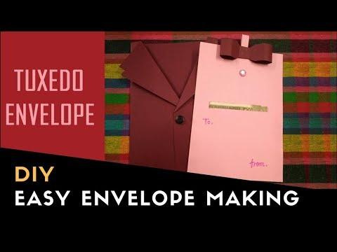 Diy easy envelope | DIY tuxedo envelope