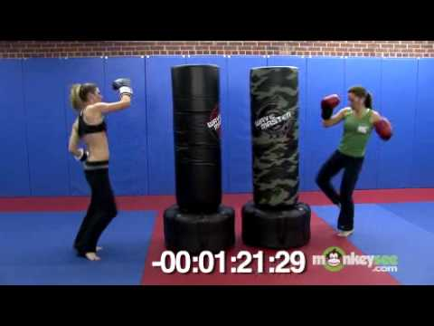 Kickboxing Bag Class Four Minute Workout Youtube