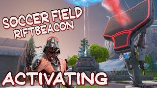 FORTNITE - SOCCER FIELD RIFTBEACON ACTIVATING STAGE 3 - NEW 3RD RIFT APPEARED - ITEM SHOP COUNTDOWN