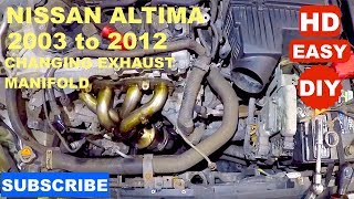 how to replace exhaust manifold on 2009 niaan altima