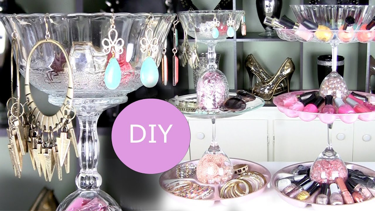 Diy Nail Polish Rack Amp Diy Jewelry Display Holder Youtube