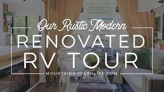 Rustic Modern Renovated RV Tour