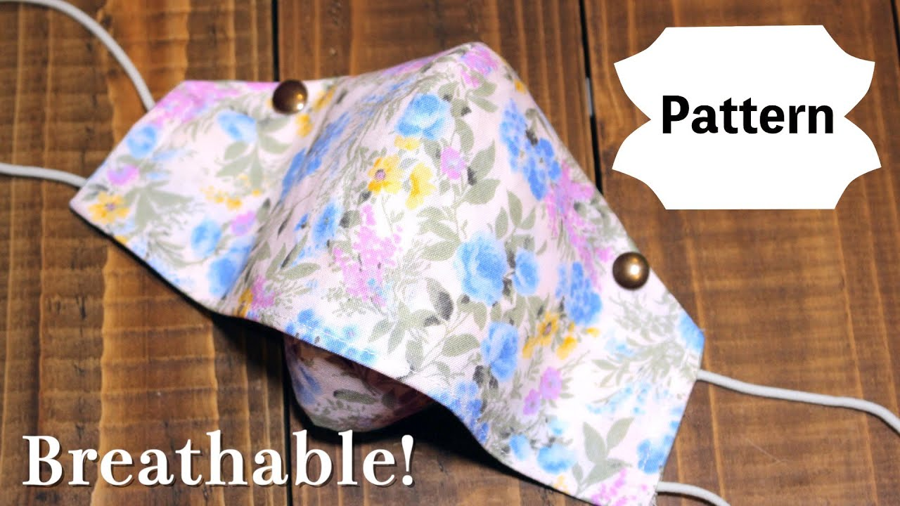 New Design - Breathable Face Mask Sewing Tutorial|PDF Printable Pattern - Size S