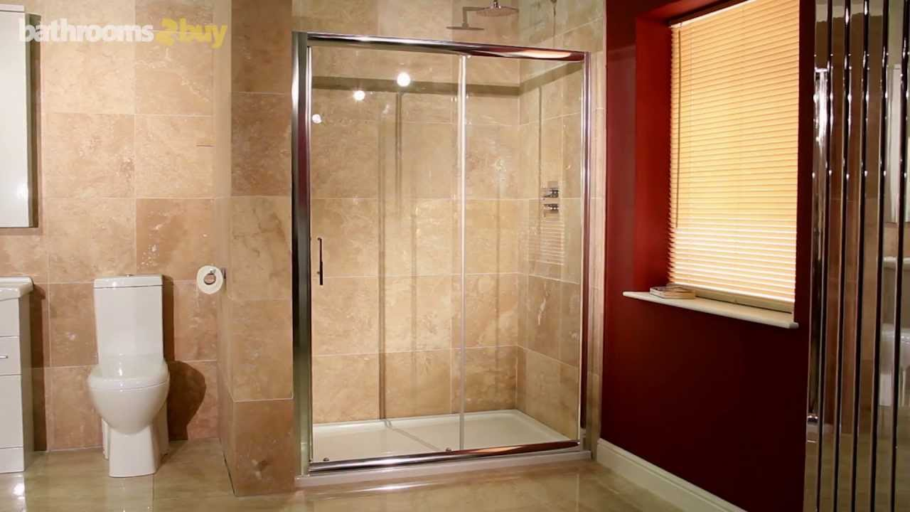 1200 Sliding Shower Door Youtube