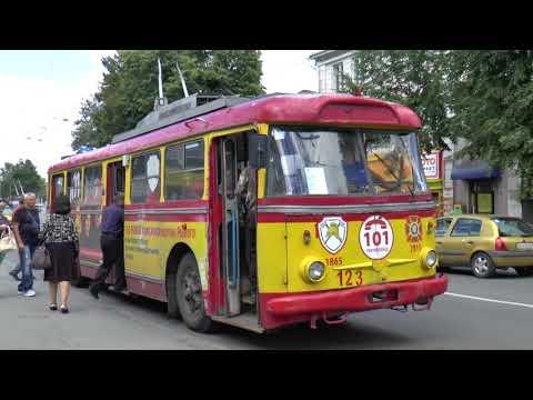 RIVNE TROLLEYBUSES UKRAINE AUG 2017