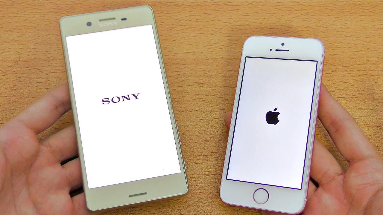 Sony Xperia X vs iPhone SE - Speed Test! (4K)