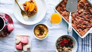 VALENTINE'S DAY Breakfast Ideas 2020 | DIY Fancy Vday Breakfast In Bed in 30mins