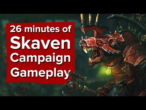 26 minutes of Skaven Campaign Gameplay - Total War: Warhammer 2 Skaven Gameplay