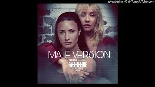 Christina Aguilera - Fall In Line ft. Demi Lovato ☆(Male Version)★
