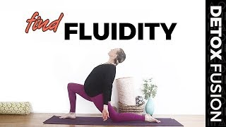 DYF Day 6: Yoga to Relieve Stress | Yoga + Meditation to Find Fluidity and Grace (20-Min)