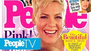 Pink Is The Beautiful Issue Cover Star! Celeb Moms Olivia Wilde, Kelly Clarkson Get Real | PeopleTV